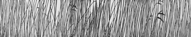 Rietkraag, linoleumsnede - Marijke van Dijk